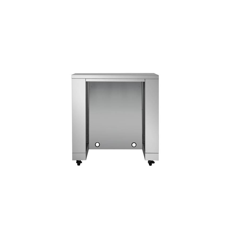 Kitchen Stainless Steel Outdoor Appliance Cabinet with No Doors (35.2 in. W x 26 in. D x 38 in. H), Silver