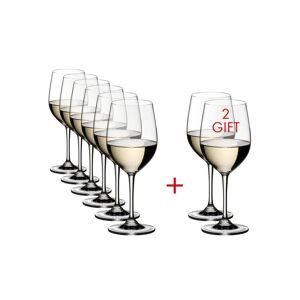 Riedel Vinum 12.35 fl.oz. Pay 6-Get 8-Viognier/Chardonnay Wine Glasses (Set of 8)