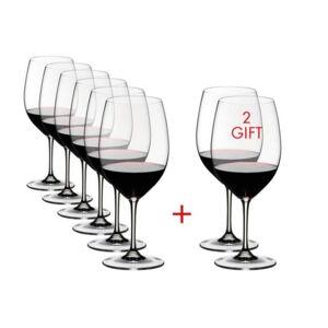Riedel Vinum 21.52 fl. oz. Pay 6-Get 8-Cabernet/Merlot Red Wine Glasses (Set of 8)