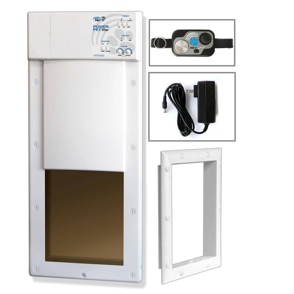 High Tech Pet 12 in. x 16 in. Power Pet Large Electronic Fully Automatic Dog and Cat Electric Pet Door for Pets Up to 100 lb.