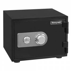 Honeywell 0.50 cu. ft. Fire Resistant Safe with Dual Combination and Key Lock Security, Black
