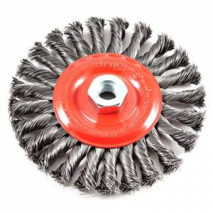 Forney 6 in. x 5/8 in.-11 Threaded Arbor Twist Knot Wire Wheel Brush