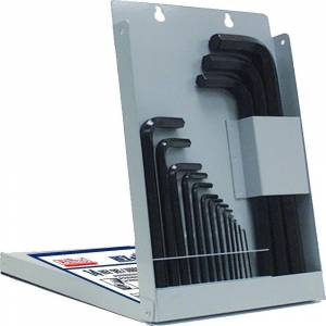 Eklind Hex-L Key Allen Wrench - 14-Pieces Set Metric MM Sizes 0.9-17 Long Series with Metal Box