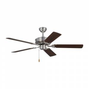 Monte Carlo Haven 52 in. Indoor Brushed Steel Ceiling Fan with Dual Finished Blades