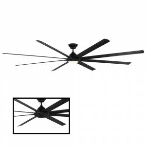Modern Forms Hydra 120 in. 3000K Integrated LED Indoor/Outdoor Matte Black Smart Ceiling Fan with Light Kit and Wall Control