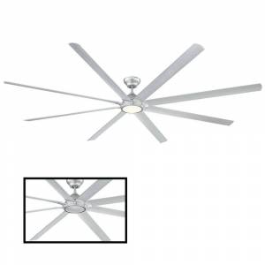Modern Forms Hydra 120 in. LED Indoor/Outdoor Titanium Silver 8-Blade Smart Ceiling Fan with 3000K Light Kit and Wall Control