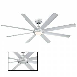 Modern Forms Hydra 80 in. LED Indoor/Outdoor Titanium Silver 8-Blade Smart Ceiling Fan with 3000K Light Kit and Wall Control