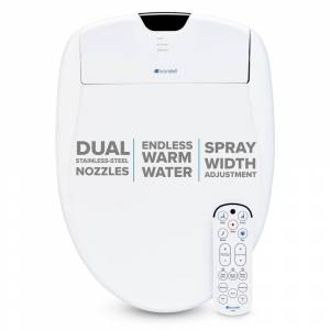Brondell Swash 1400 Luxury Electric Bidet Seat for Elongated Toilet in White