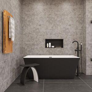 ALFI BRAND 16 in. x 32 in. Single Bar Plug-In Towel Warmer in Natural Wood