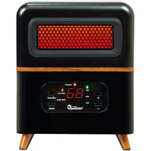Dr Infrared Heater Dual Heating Hybrid Space Heater, 1500-Watt with Remote, More Heat, Black