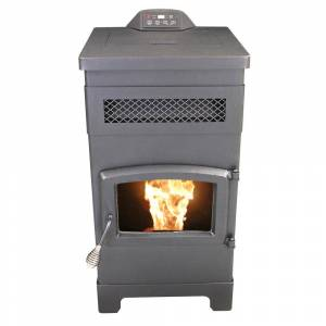 Vogelzang 2200 sq. ft. EPA Certified Pellet Stove with 40 lbs. Hopper and Remote Control and Slim Design