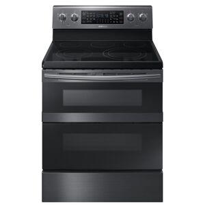Samsung 30 in. 5.9 cu. ft. Dual Door Electric Range with Dual Convection Oven in Fingerprint Resistant Black Stainless, Fingerprint Resistant Black Stainless Steel