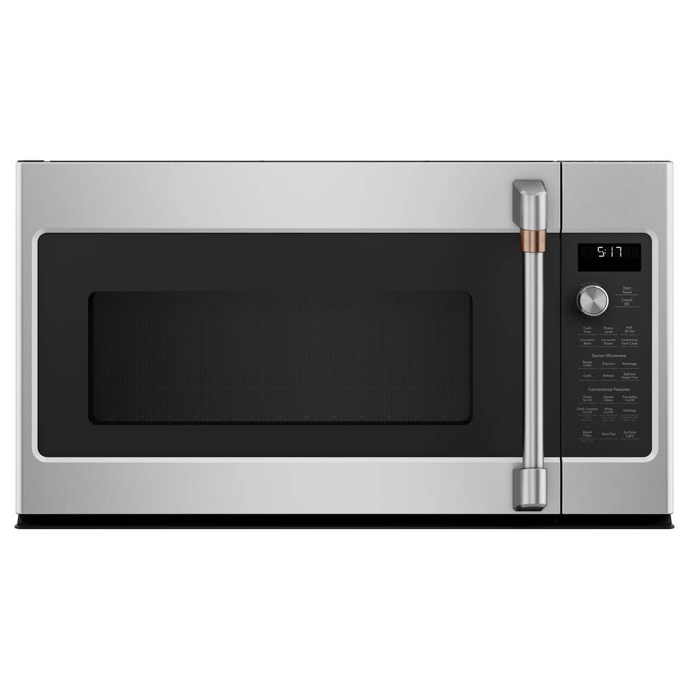 Cafe 1.7 cu. ft. Over the Range Convection Microwave in Stainless Steel with Sensor Cooking, Silver