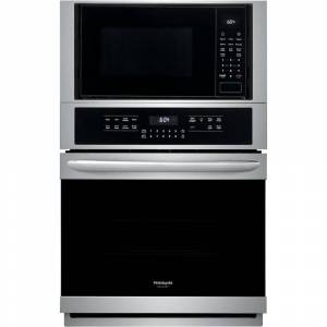 FRIGIDAIRE GALLERY 27 in. Electric True Convection Wall Oven with Built-in Microwave in Stainless Steel, Smudge-Proof Stainless Steel
