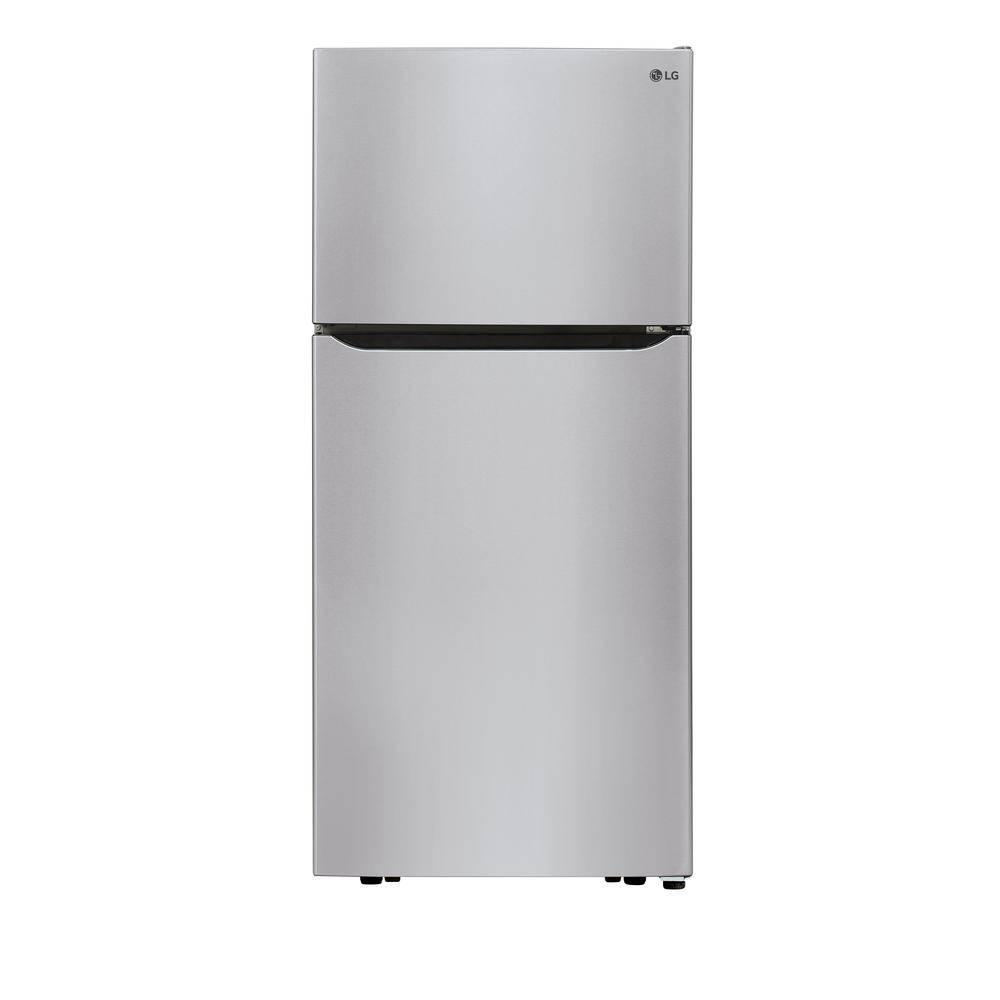 LG Electronics 30 in. W 20.2 cu. ft. Top Freezer Refrigerator in Stainless Steel with Multi-Air Flow and Reversible Door, Silver