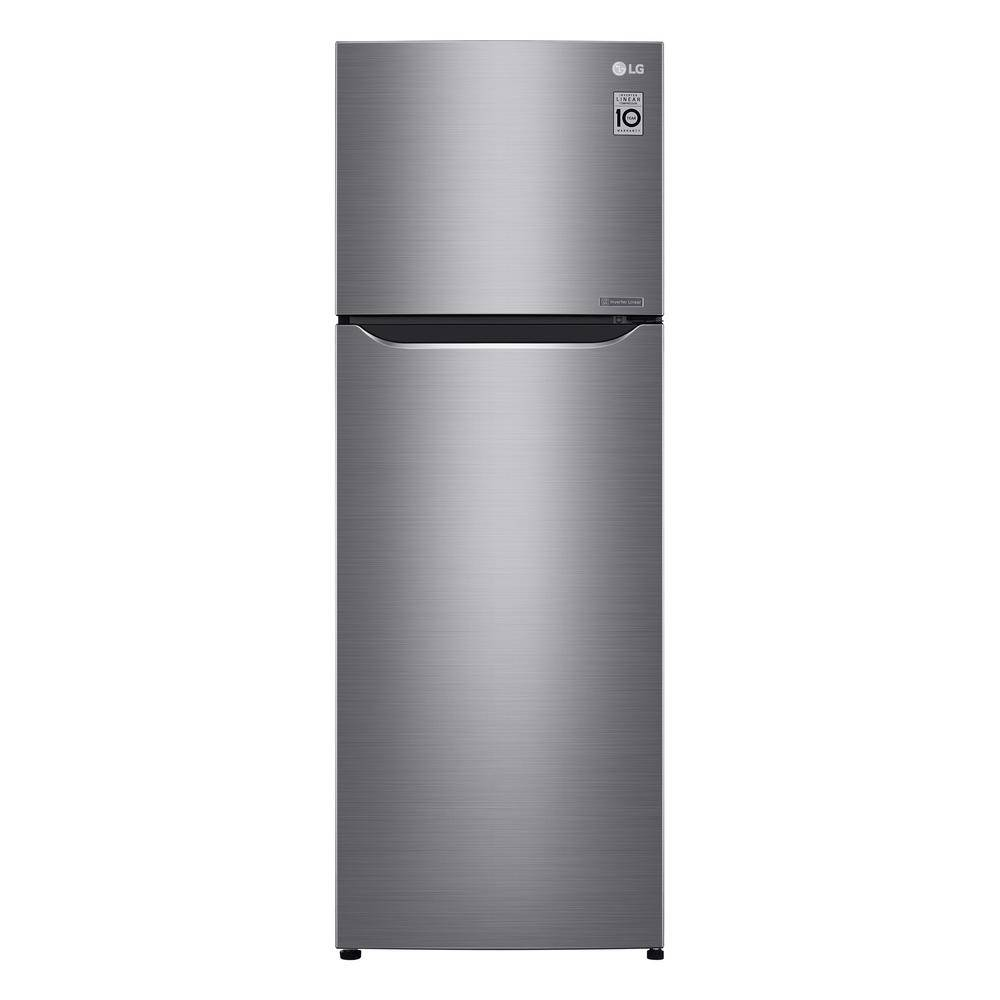 LG Electronics 11.1 cu. ft. Top Freezer Refrigerator in Platinum Silver with Door Cooling+, Counter Depth