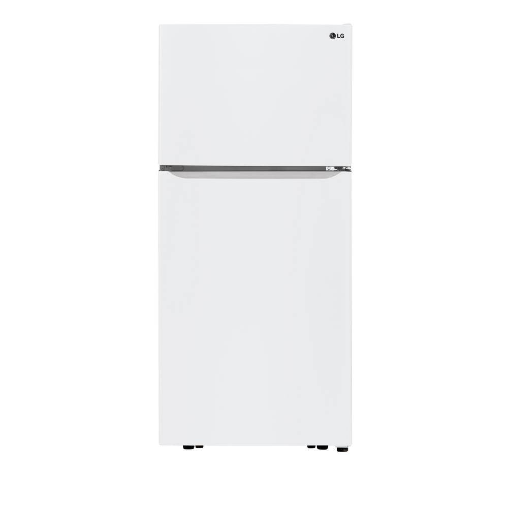 LG Electronics 30 in. 20 cu. ft. Top Freezer Refrigerator in White with Mult-Air Flow and Reversible Door