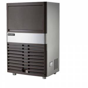 SNOOKER 120 lb. Freestanding or Built-In Ice Maker in Stainless Steel, Silver