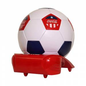Koolatron Thermoelectric 7.5 in. 5 (12 oz.) Can Soccer Ball Cooler, Multi