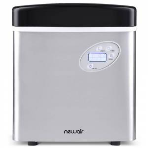 NewAir Portable 50 lb. of Ice a Day Countertop Ice Maker BPA Free Parts with 3 Ice Sizes and Easy to Clean - Stainless Steel, Stainless Steel/Black