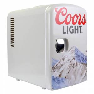 Coors Light 0.14 cu. ft. Portable Mini Fridge in Gray without Freezer