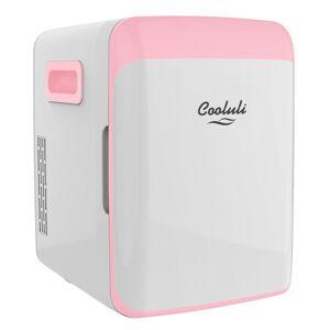 COOLULI Classic 0.35 cu. ft. Retro Mini Fridge in Pink without Freezer