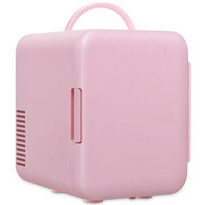 GYMAX LLC 4 L Compact Fridge Mini Cooler and Warmer Portable Refrigerator Pink