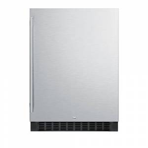 Summit Appliance 4.6 cu. ft. Outdoor Refrigerator in Stainless Steel, Stainless steel door and black cabinet