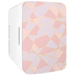 COOLULI Infinity 0.35 cu. ft. Retro Mini Fridge in Fractal Pink without Freezer