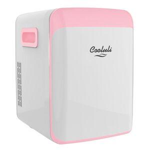 COOLULI Classic 0.53 cu. ft. Retro Mini Fridge in Pink without Freezer