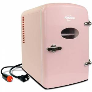 Koolatron 0.14 cu. ft. Retro Portable Mini Fridge Cooler in Pink without Freezer