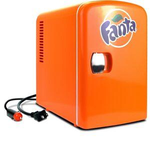 Fanta 0.14 cu. ft. Portable Mini Fridge in Orange without Freezer
