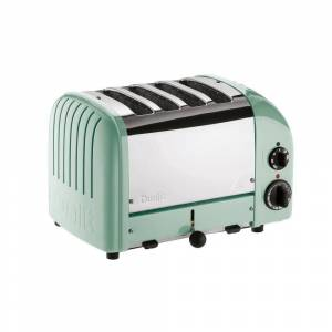 Dualit New Gen 4-Slice Mint Green Wide Slot Toaster with Crumb Tray