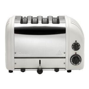 Dualit New Gen 4-Slice Matt Porcelain Wide Slot Toaster with Built-In Timer