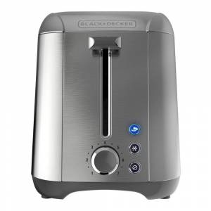 Rapid Toast 2-Slice Stainless Steel Wide Slot Toaster, Silver