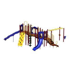 Ultra Play UPlay Today Slide Mountain (Playful) Commercial Playset with Ground Spike