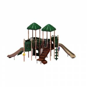 Ultra Play UPlay Today Pike's Peak (Natural) Commercial Playset with Ground Spike
