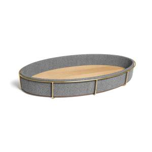 Jenny Walker Arden Changing Pad (Color: Brass/Greyhound)