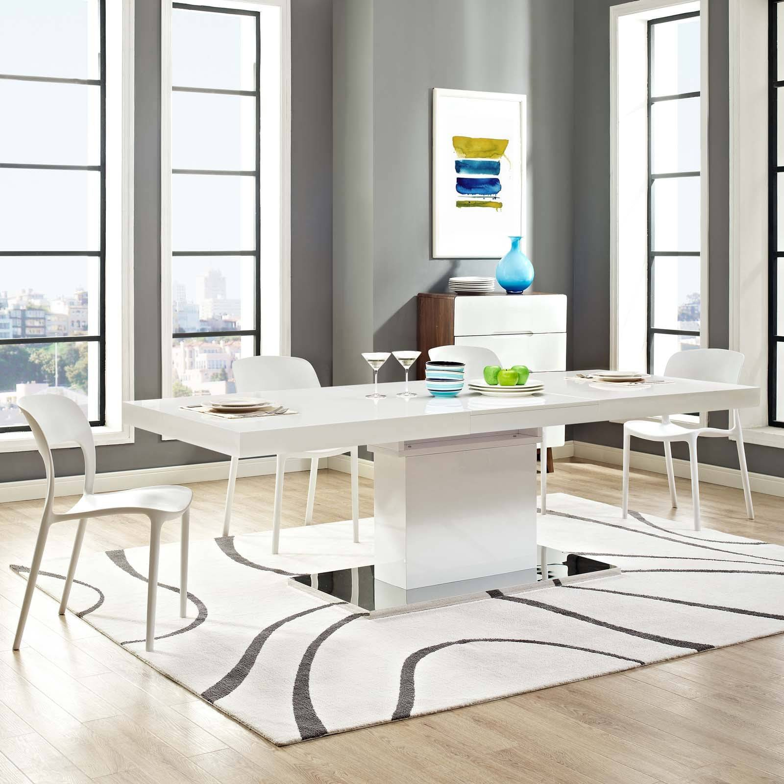 lexmod Vector Expandable Dining Table