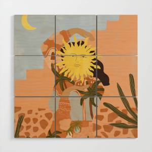 Society6 Soul Full Of Sunshine Wood Wall Art by aljahorvat
