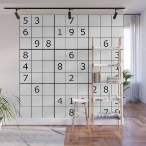Society6 Number Game Wall Mural by mprevost
