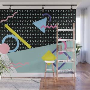 Society6 Memphis Pattern 6 - 80s - 90s - Retro Wall Mural by graphicwavedesign