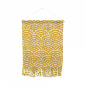 Society6 Japanese Seigaiha Wave – Marigold Palette Wall Hanging by catcoq