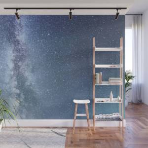 Society6 Starry Sky With Millions Of Stars, Milky Way Galaxy Wall Mural by allexxandarx
