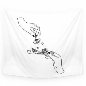 Society6 How To Roll Up Your Sadness? Wall Tapestry by bifng