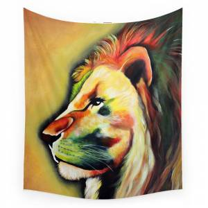 Society6 Conquering Lion Wall Tapestry by kingdomaffairs