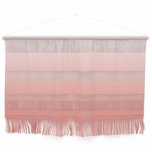 Society6 Living Coral Ombre - Coral and White Wall Hanging by cradoxcreative