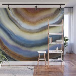 Society6 Colorful Layered Agate 2075 Wall Mural by ourworld_closeup