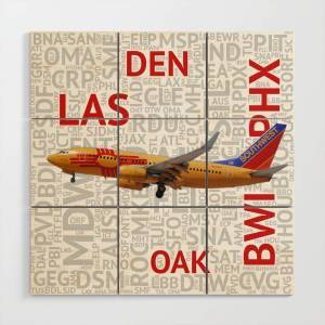 Society6 NM Wood Wall Art by exclusiveaviationpix