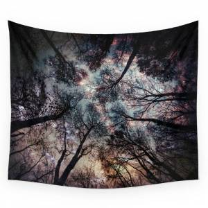 Society6 Starry Sky in the Forest Wall Tapestry by mariannamills